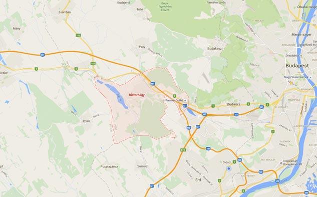 Biatorbágyi Viadukt google mapsen